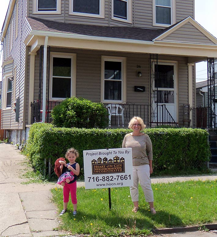 Family that has received assistance through HOCN's Homeowner Programs