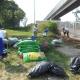 HOCN Success Story, Volunteers work at the Hudson St Pedestrian Bridge